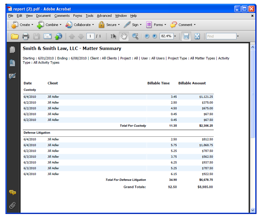 Excel Time Reporting Template