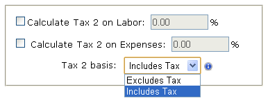 Cumulative or Separate Tax Feature