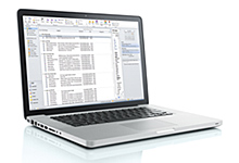 Laptop-with-Email-Database