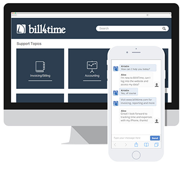 Bill4Time software support