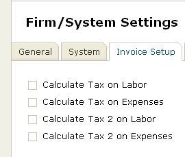 Dual Tax Settings for Invoicing