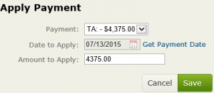 applied payments