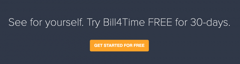 Bill4Time 30 Day Free Trial