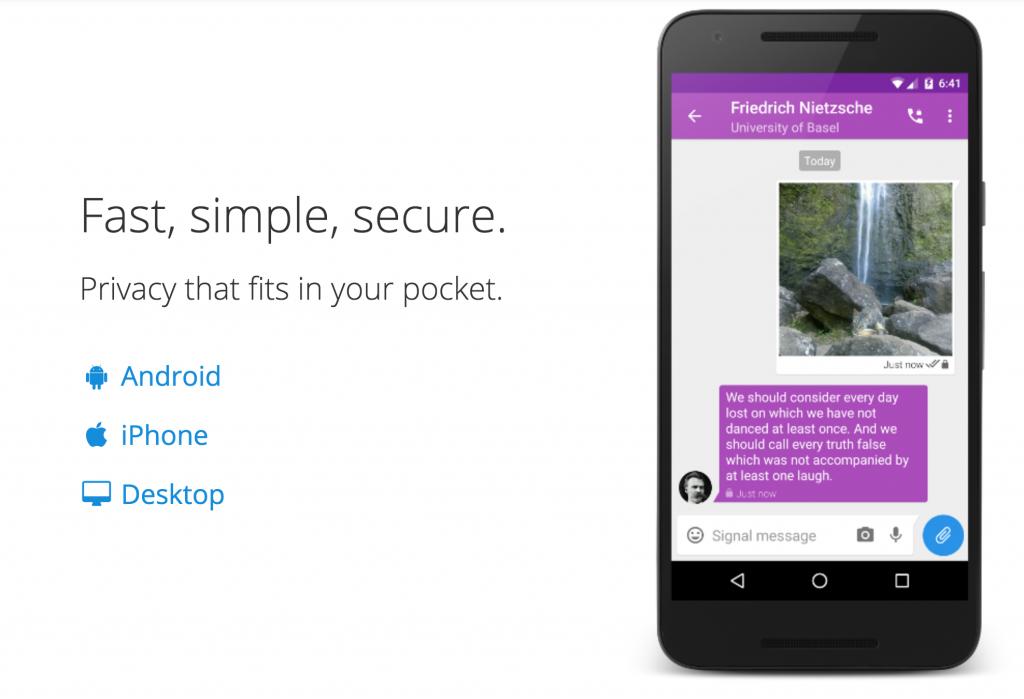 SignalMessenger Mobile Phone App