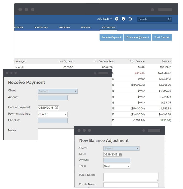Bill4TIme's quick accounting access and Quickbooks connector
