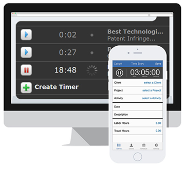 Time tracking software feature.