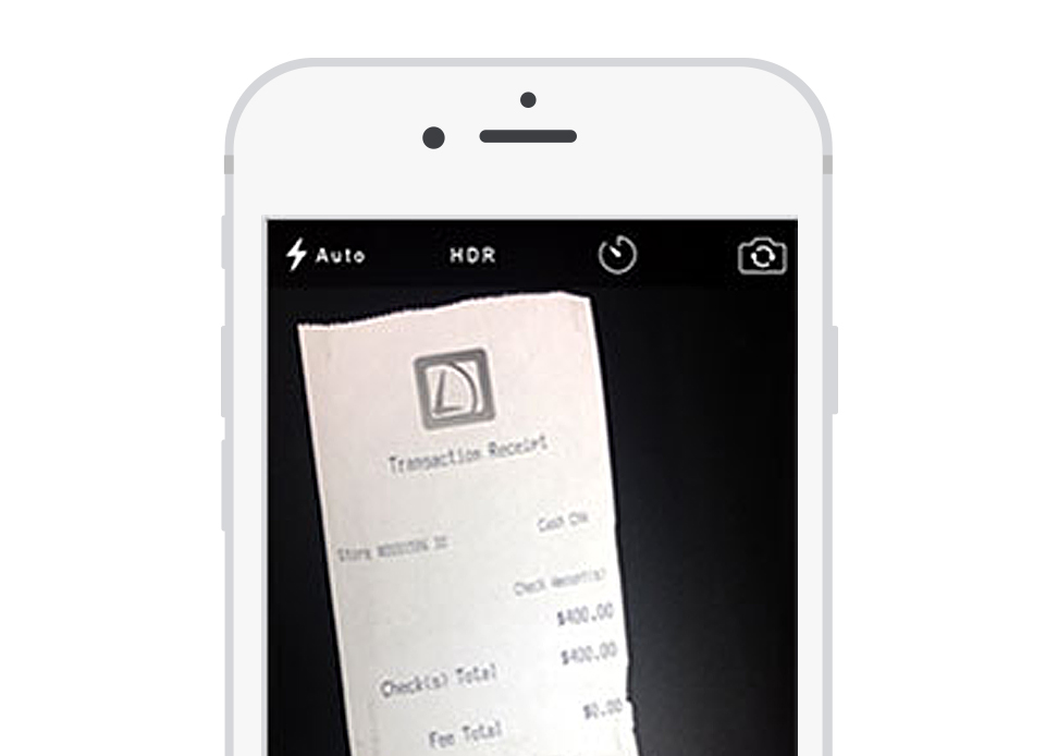 Quickly and easily take snapshots of receipts and add them directly to the projects.
