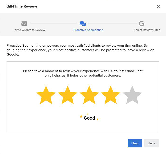 Review the reviews from your clients