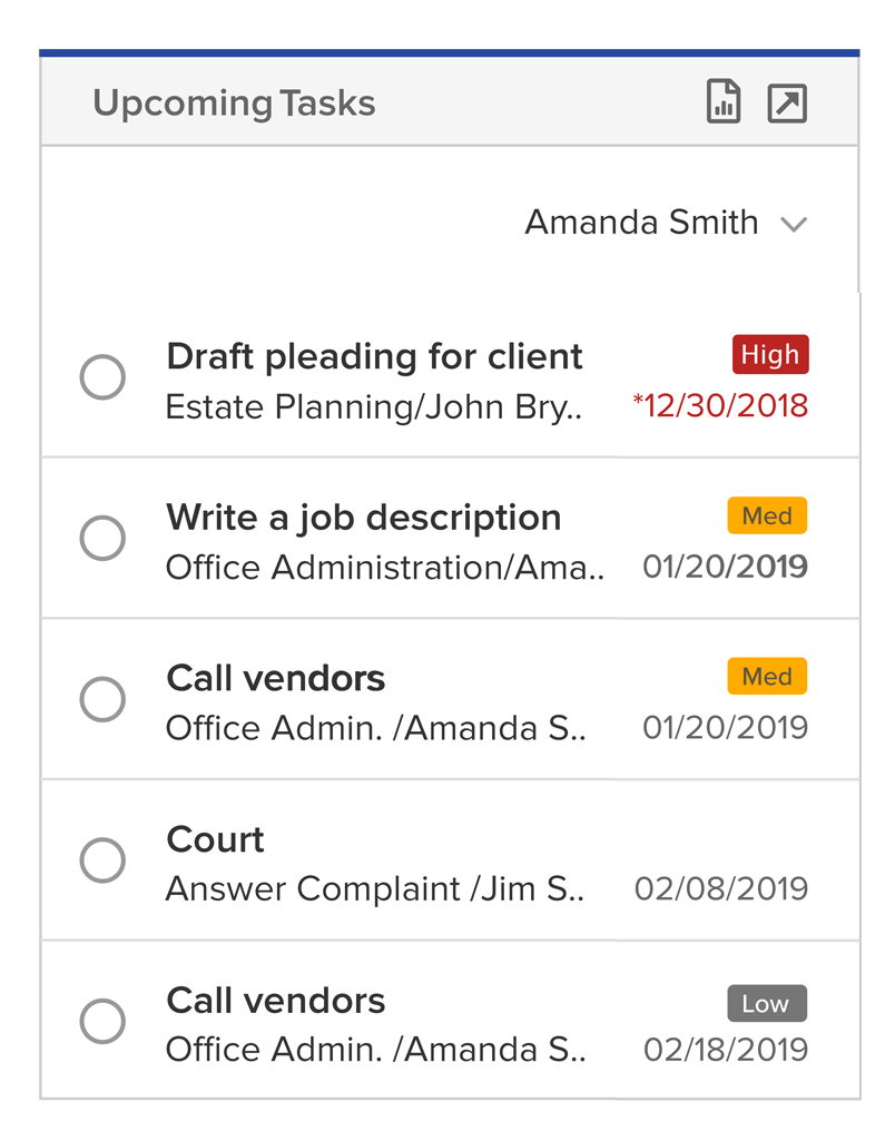 Save time by keeping an eye on upcoming events and tasks to stay on schedule.