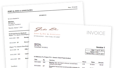 Billing and Invoicing  Bill4Time